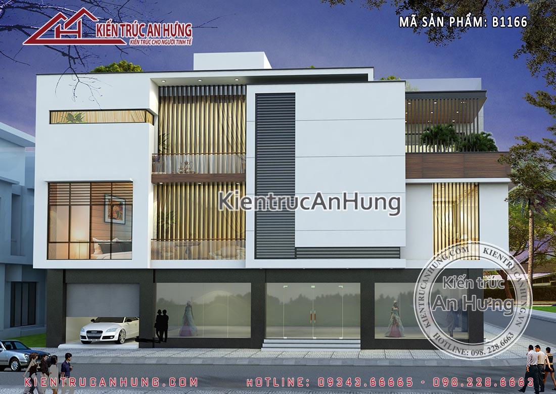 Với lợi thế 2 mặt tiền rộng và thoáng nên biệt thự rất phù hợp với mô hình nhà ở kết hợp với kinh doanh