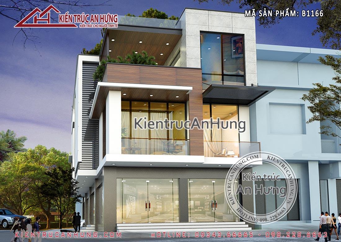 Thiết kế biệt thự 8x16m phong cách hiện đại 3 tầng