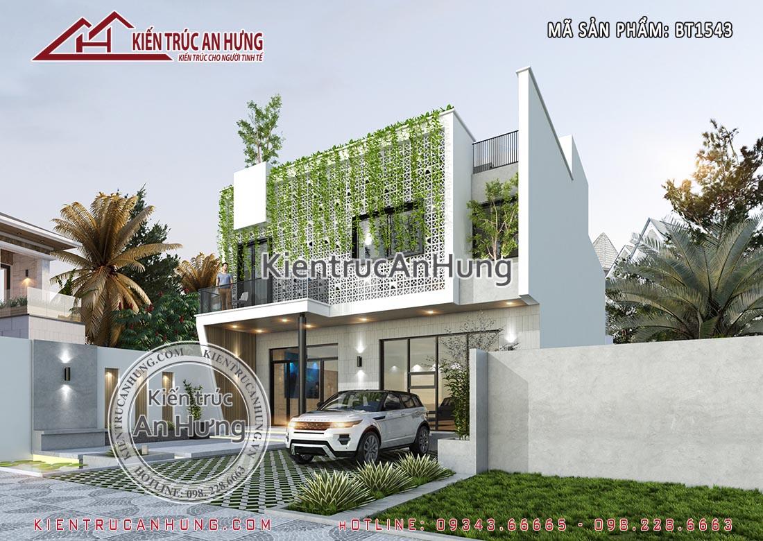 Một phương án thiết kế mặt tiềnkhác cho căn biệt thự vườn 10x20m