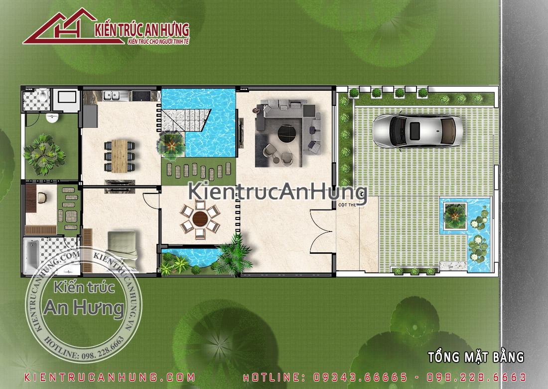 Thiết kế tổng mặt bằng biệt thự BT1543