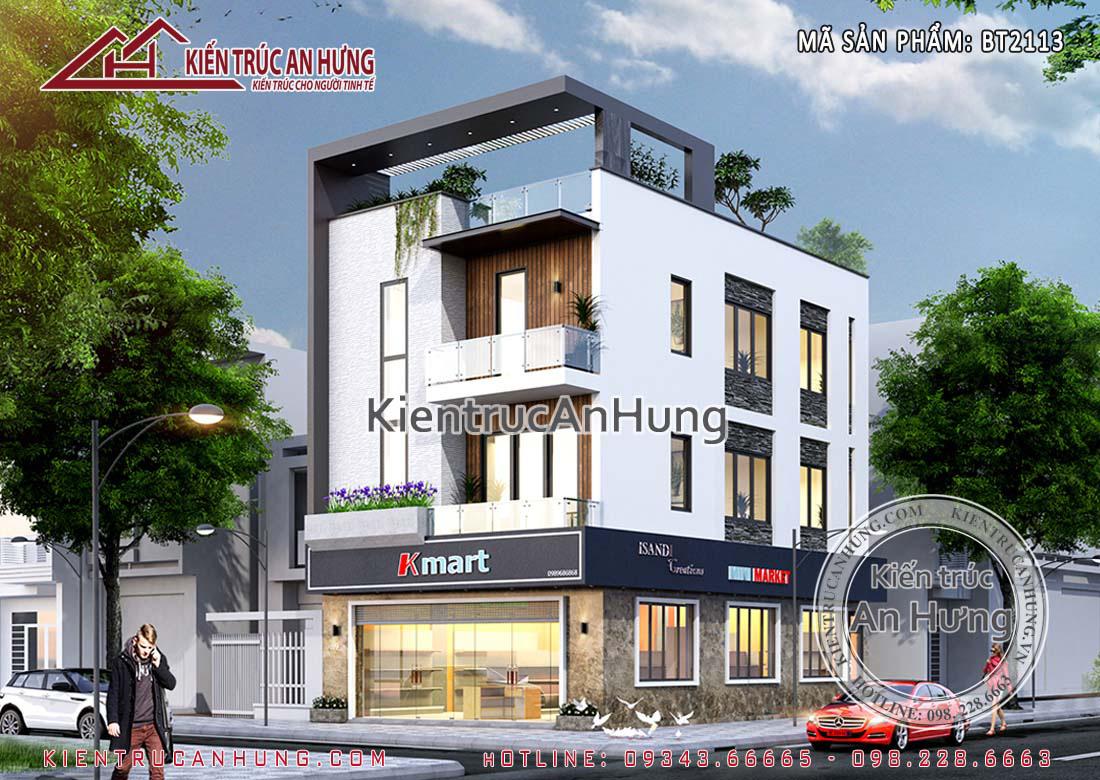 Mẫu nhà phố hiện đại kết hợp kinh doanh