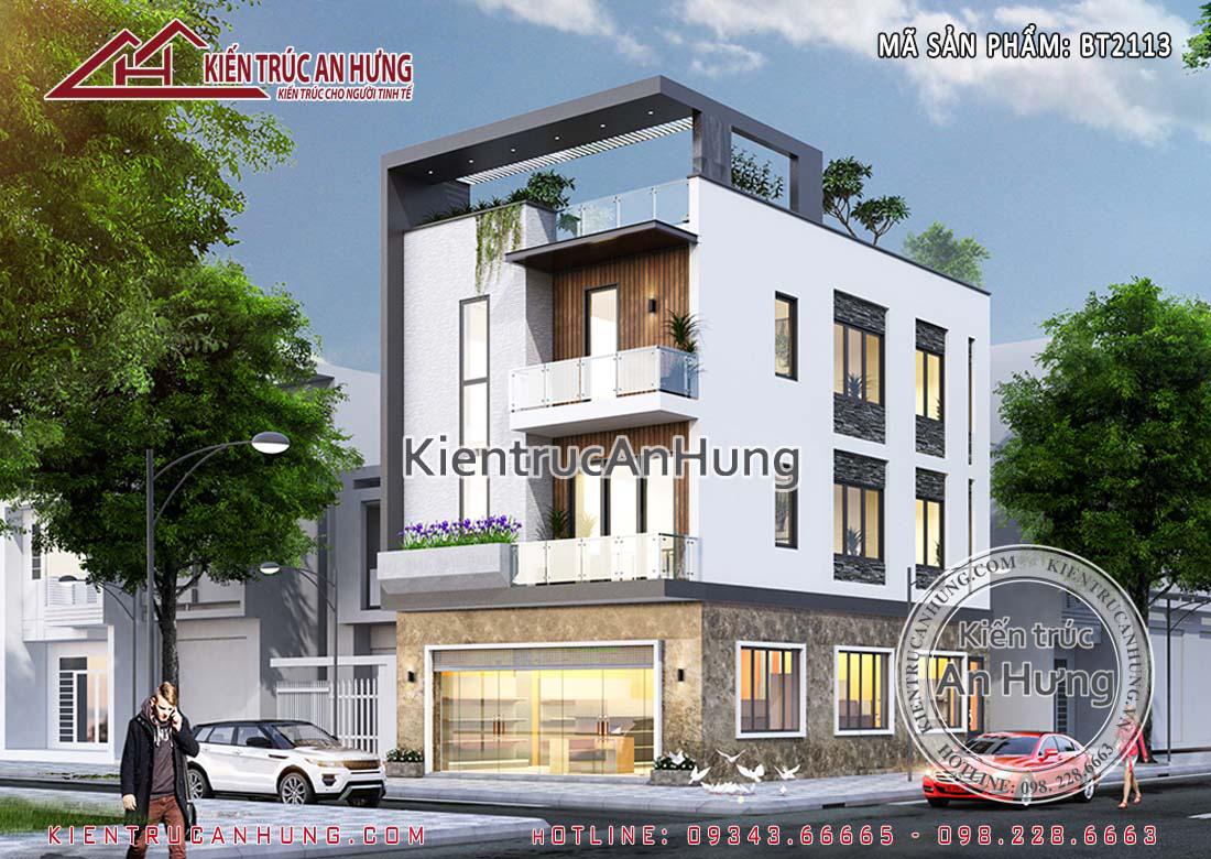 Thiết kế nhà phố kết hợp kinh doanh - Anh Nam - Lạng Sơn - BT2113
