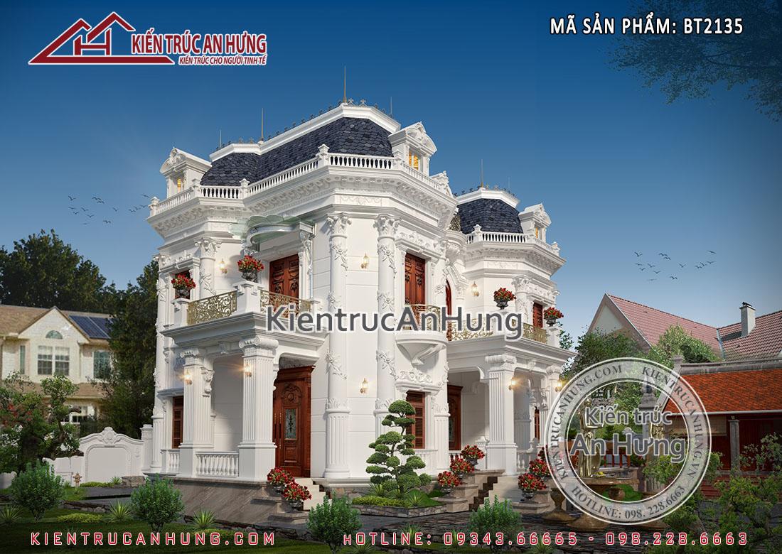 Mẫu biệt thự đẹp 2 tầng 2 mặt tiền toát lên vẻ đẹp vô cùng quyền rũ và đẳng cấp thượng lưu