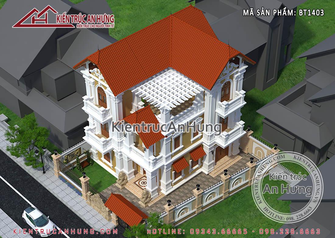 """Cổng chính """"hoa sắt"""" - tinh hoa kiến trúc cổ điển Pháp"""