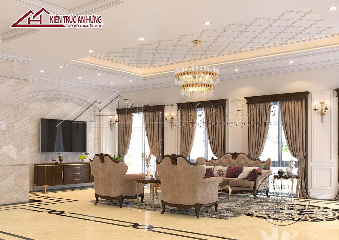 Thiết kế nội thất tân cổ điển đẹp tinh tế