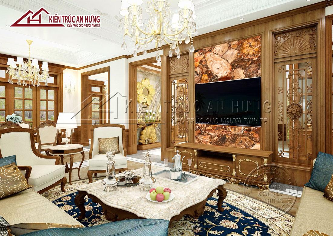Thiết kế nội thất biệt thự tân cổ điển của gia đình anh Dương tại KĐT Hoa Phượng